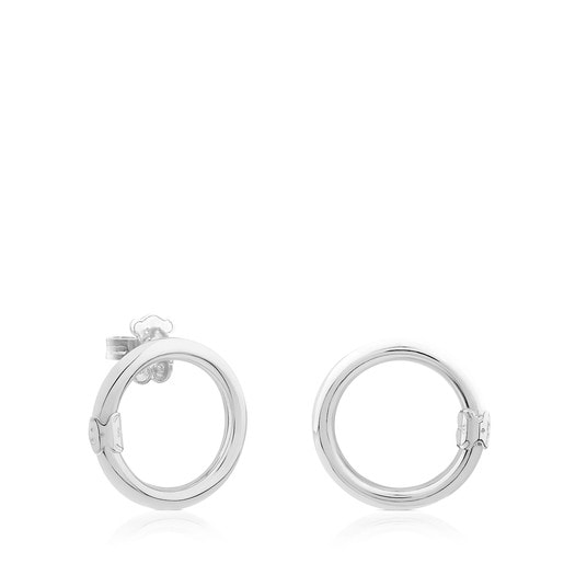 Medium Silver Hold Earrings