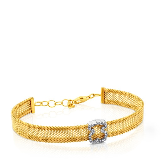 Bracelet Mesh en or avec diamants