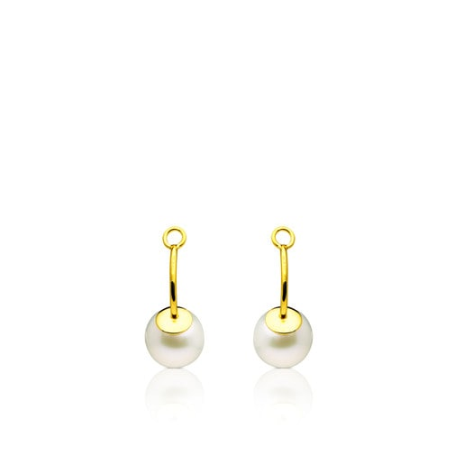 Gold TOUS Pearl Earrings Pendant with Pearl
