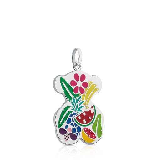 Steel Miranda Pendant with Enamel