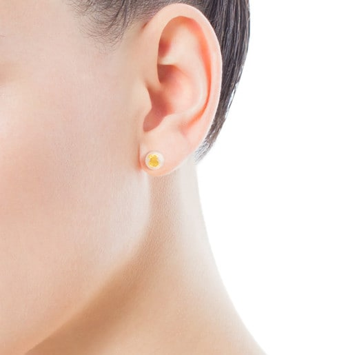 Gold Baby TOUS Earrings with Pearl