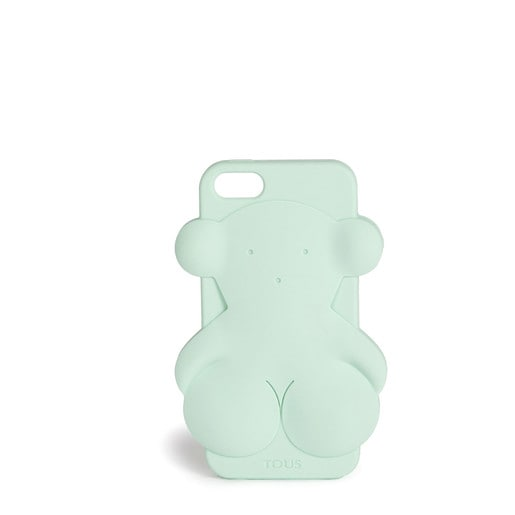 Funda de móvil iPhone 5 Rubber Bear en color verde