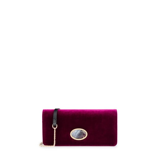 Clutch Arieta en color burdeos