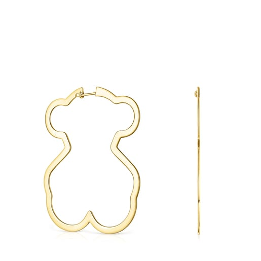 Silueta bear Earrings in Silver Vermeil