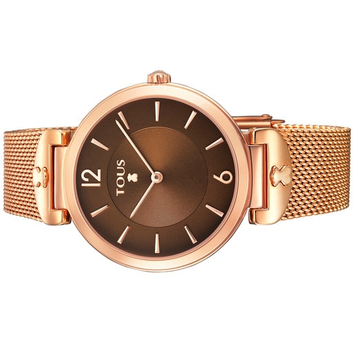 Rose IP Steel S-Mesh Watch