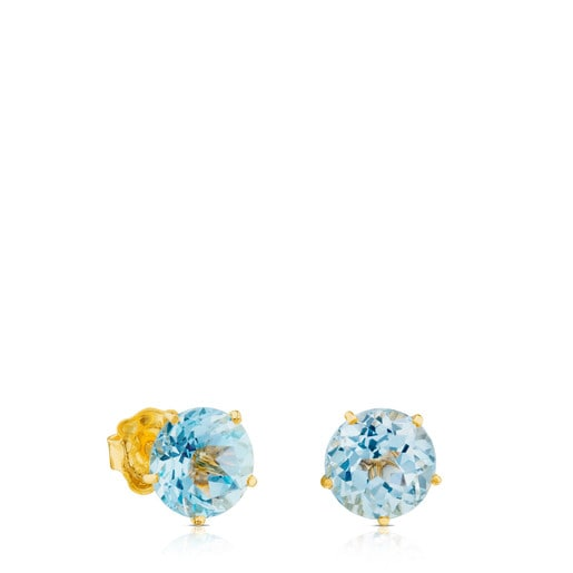 Ivette Earrings in Gold with Topaz
