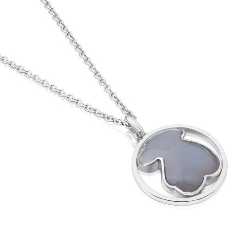 Camille Necklace in Silver with Chalcedony