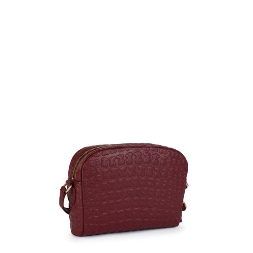 Sherton garnet Leather Crossbody bag