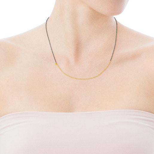 Gold and Silver Gem Power Choker