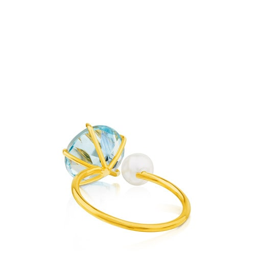 Ivette Ring in Gold with Topaz and Pearl