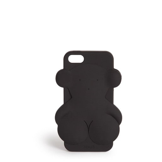 Funda de móvil iPhone 5 Rubber Bear en color negro