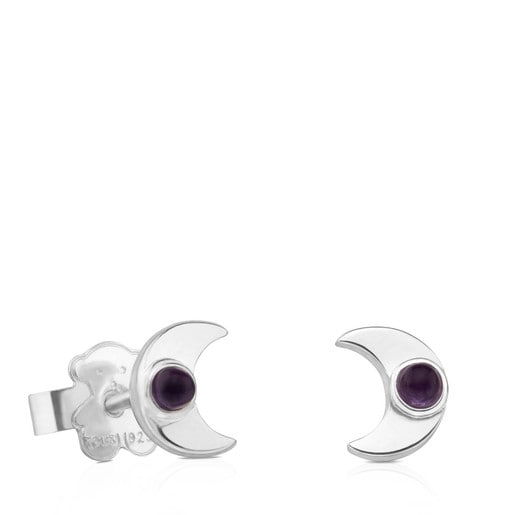 Pendientes Super Power de Plata con Amatista