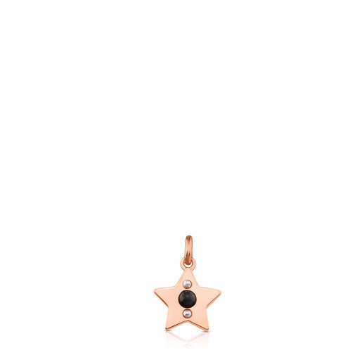 Rose Vermeil Silver Super Power Pendant with Spinel and Pearl