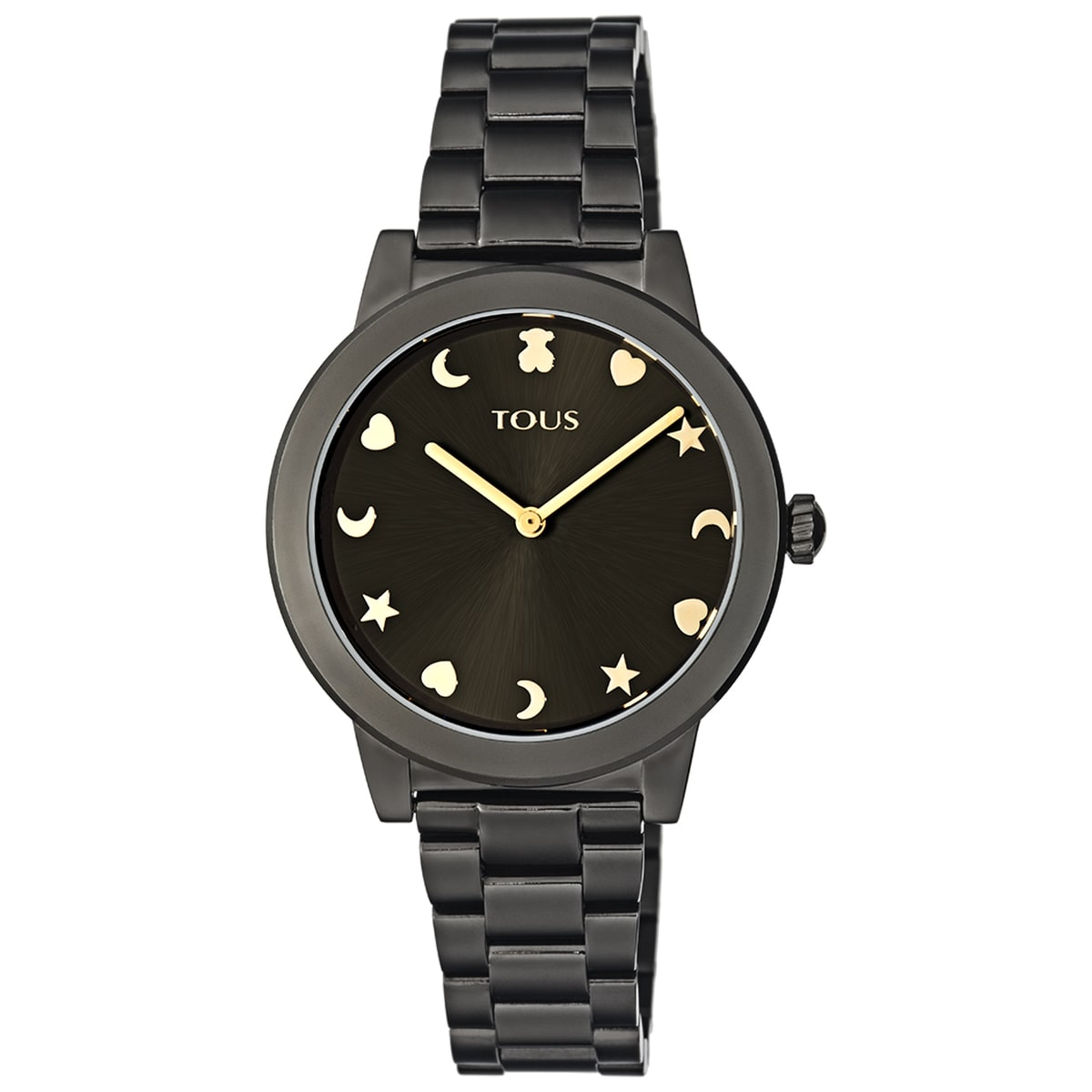 Black IP Steel Nocturne Watch with black dial