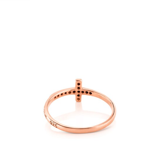 Pink Vermeil Motif Ring with Spinel