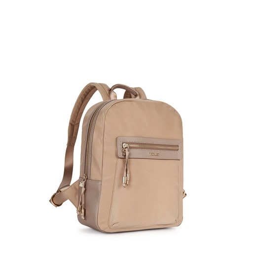 Morral Brunock Chain de Lona en color topo