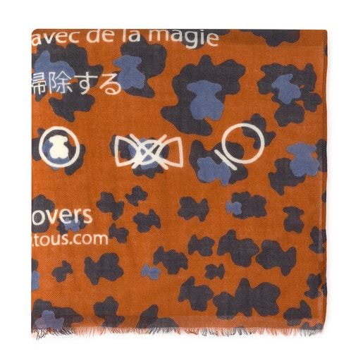 Orange Bridgy Leo foulard