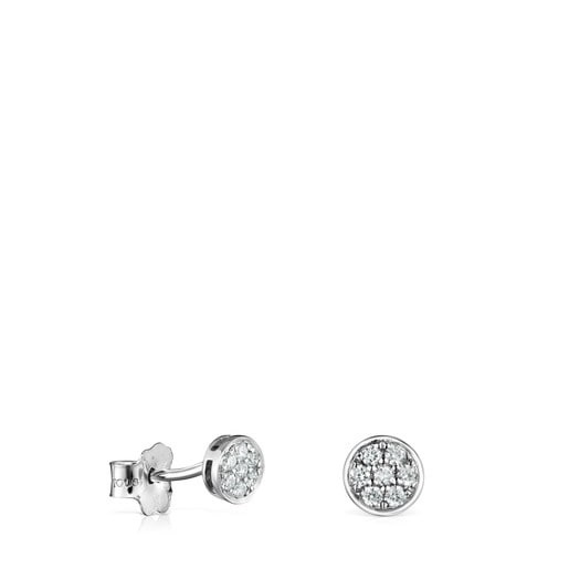 White Gold with Diamonds Alecia Earrings