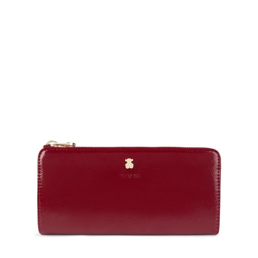 Medium burgundy Dorp wallet