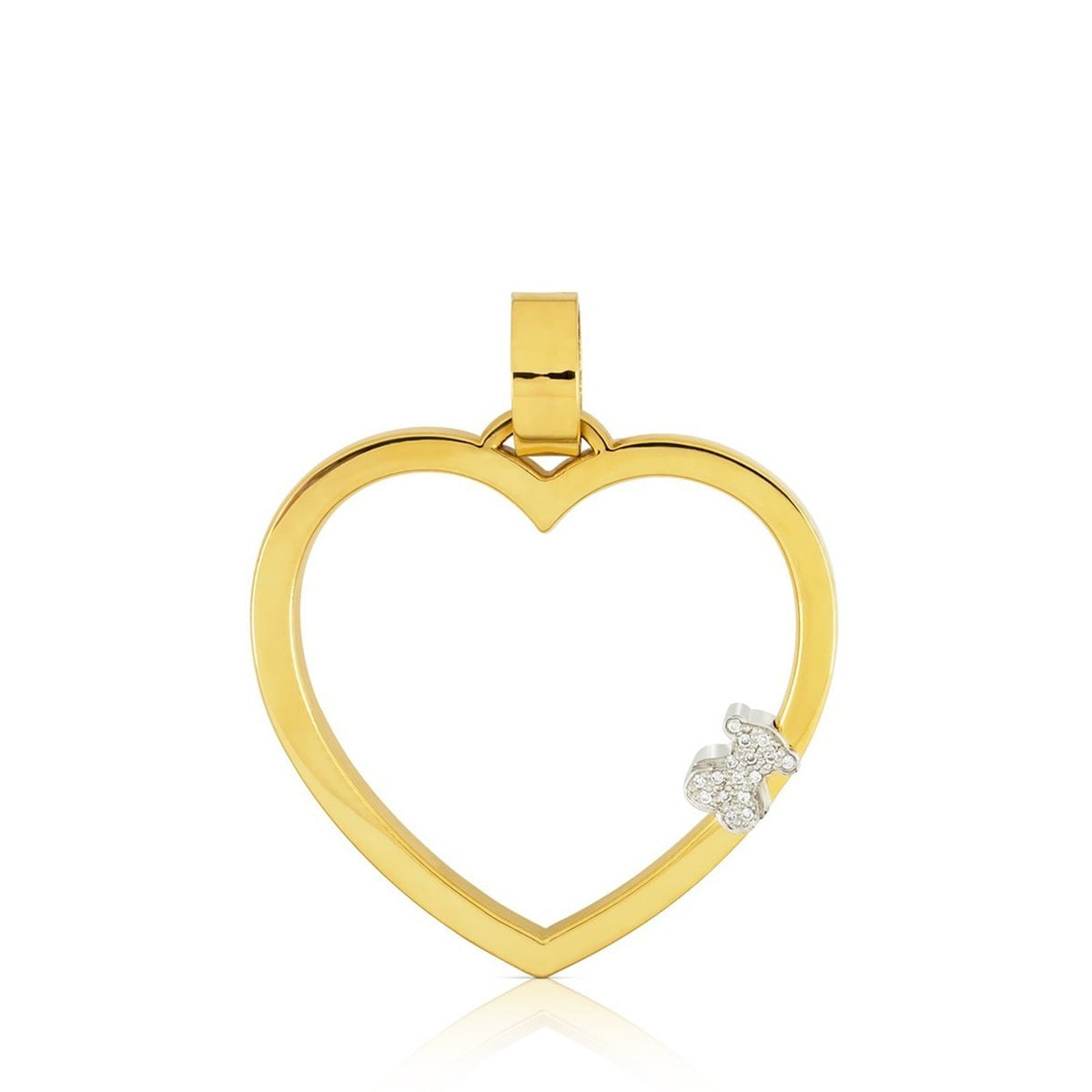 Yellow and White Gold Valentine's Day Pendant with Diamond