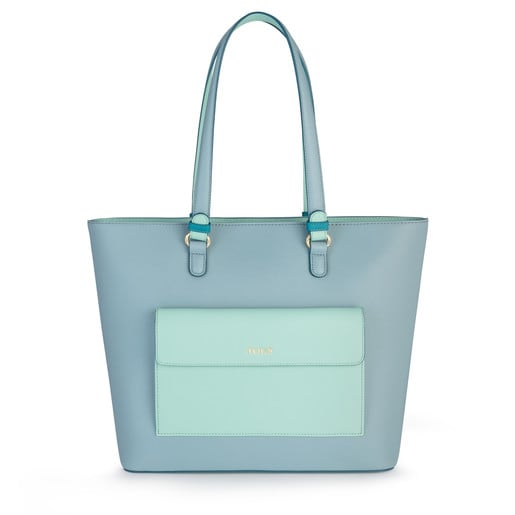 Blue-turquoise Essence Tote bag