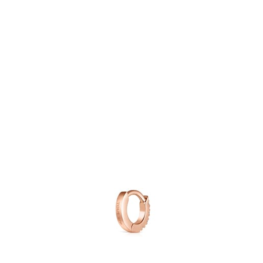 Light 1/2 Earring in Rose Gold with Diamonds