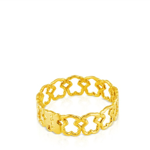 Gold Silueta Ring Bear motifs