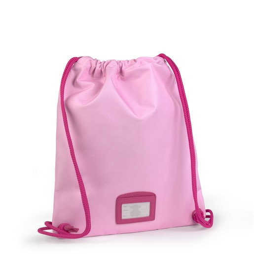 Small flat pink School backpack