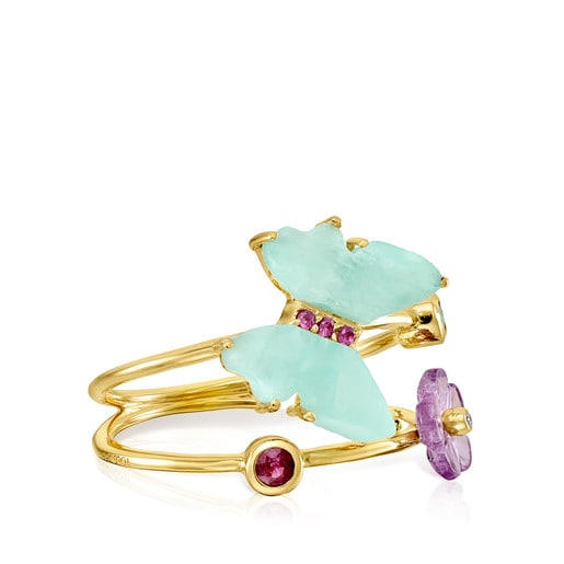 Vita butterfly ring in Gold with Gemstones