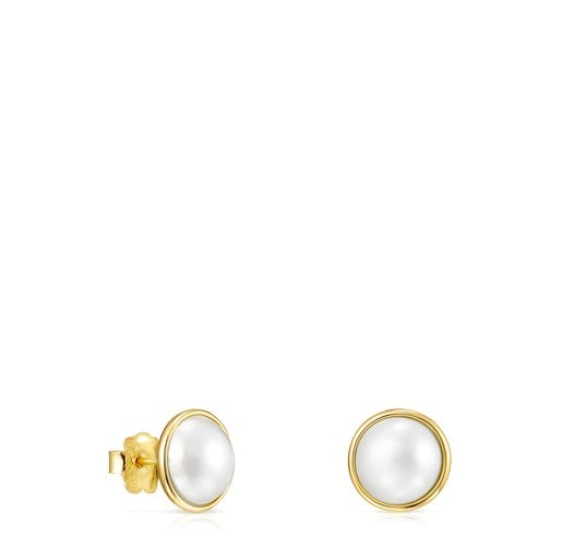 Small Gold and Pearl Avalon Earrings