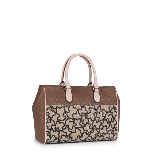 Sac de ville Elice New de couleurs marron et rose