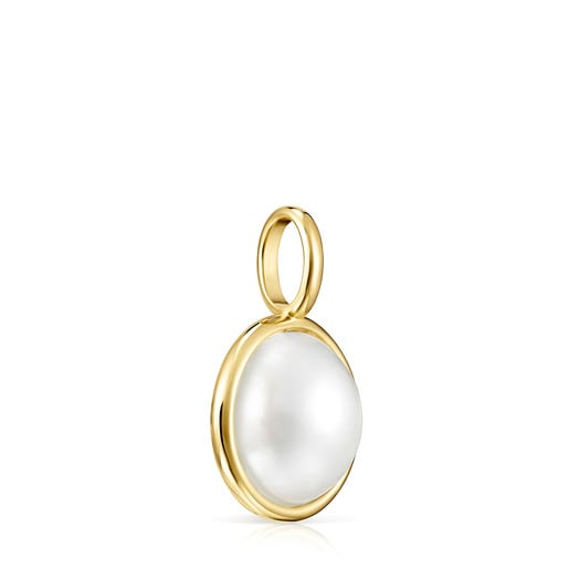 Gold and Pearl Avalon Pendant