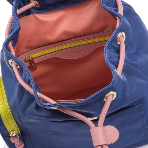 Small tri-navy colored Doromy Backpack