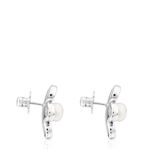 Silver Happy Moments Earrings with Pearl