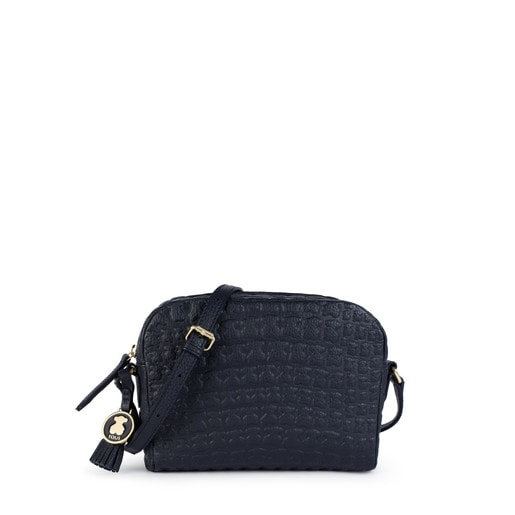 Navy blue Leather Sherton Crossbody bag