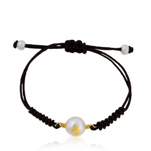 Gold TOUS Pearl Bracelet with Pearl