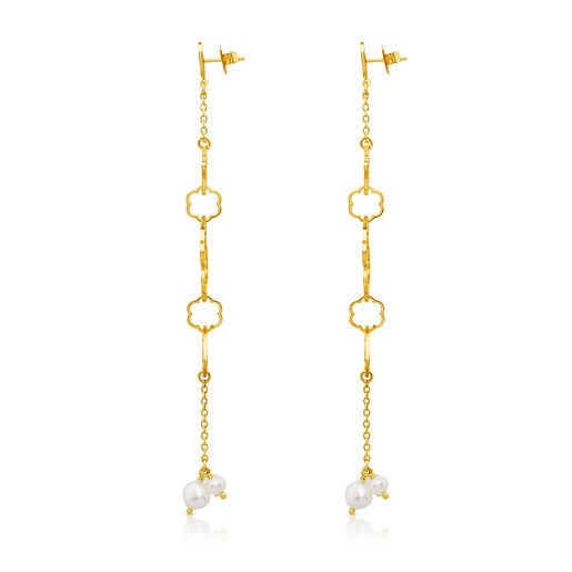 Vermeil Silver New Silueta Earrings with Pearl