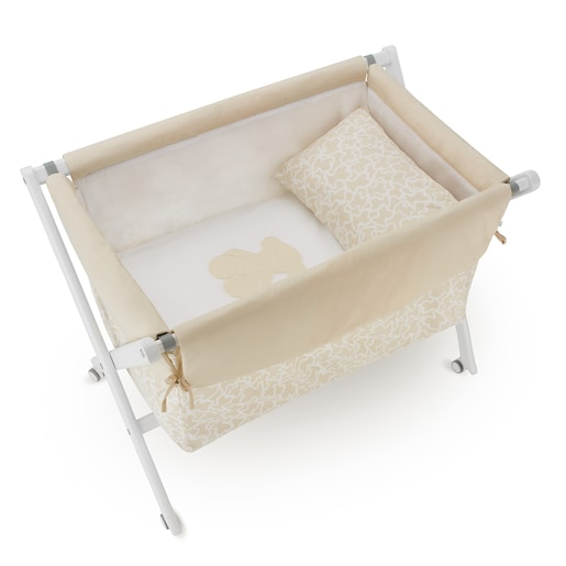 Kaos mini cot bed clothes in beige