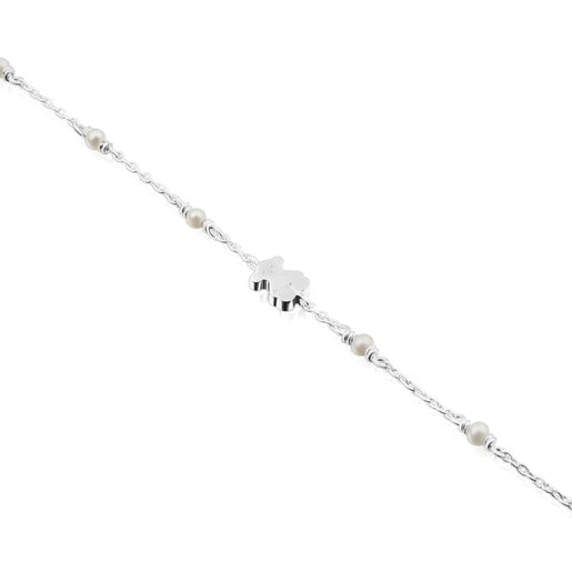 Silver Super Power Bracelet with Pearls