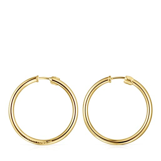 TOUS Basics large Earrings in Silver Vermeil