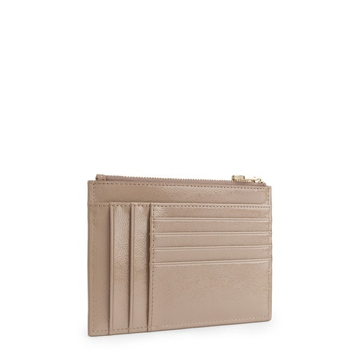 Flat taupe Dorp toilet bag