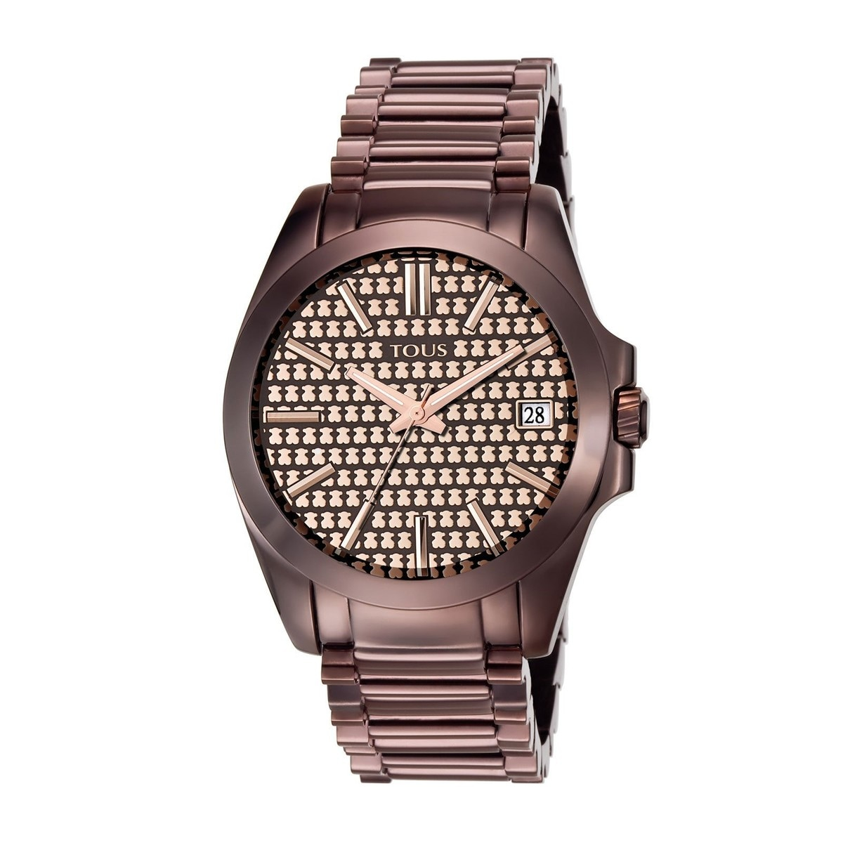 Reloj Drive de acero IP chocolate
