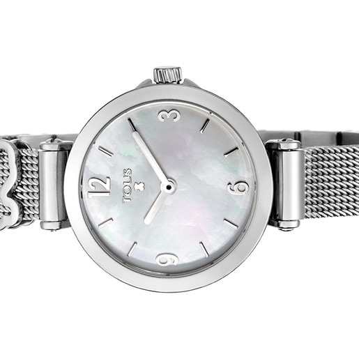Steel Icon Charms Watch with Mother-of-pearl