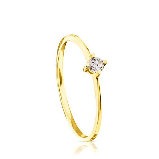 Anillo TOUS Brillants de Oro con Diamante