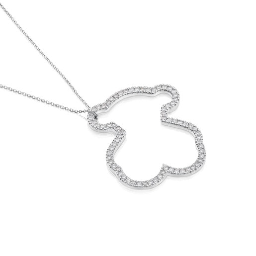 White Gold Icon Gems Necklace with Diamonds