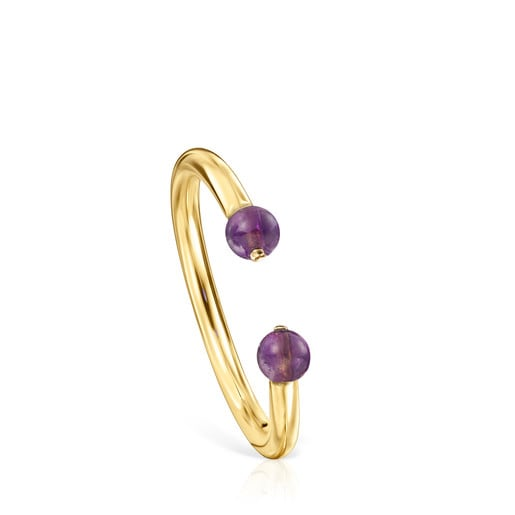 Batala Ring in Silver Vermeil with Amethyst