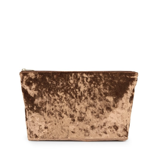Medium gold colored Velvet Kaos Shock Handbag