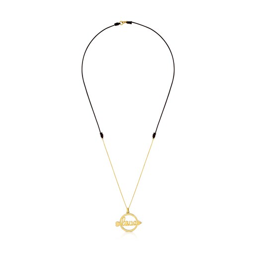 Gold San Valentin Necklace with Mother-of-Pearl