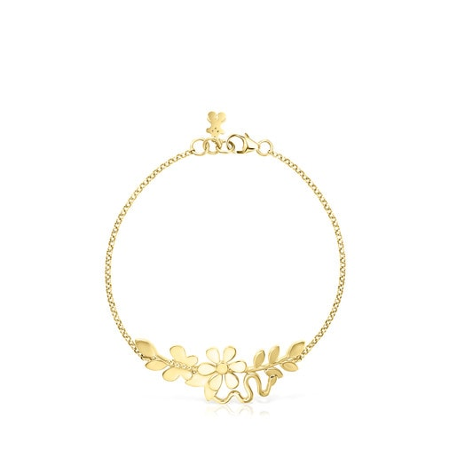 Silver Vermeil Real Mix Leaf Bracelet