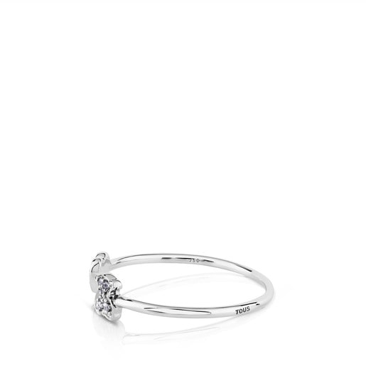 White Gold Puppies Ring